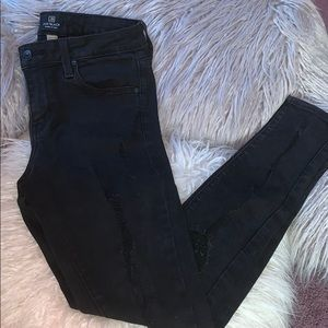 Just Black Denim Black Jeans Ripped size 28